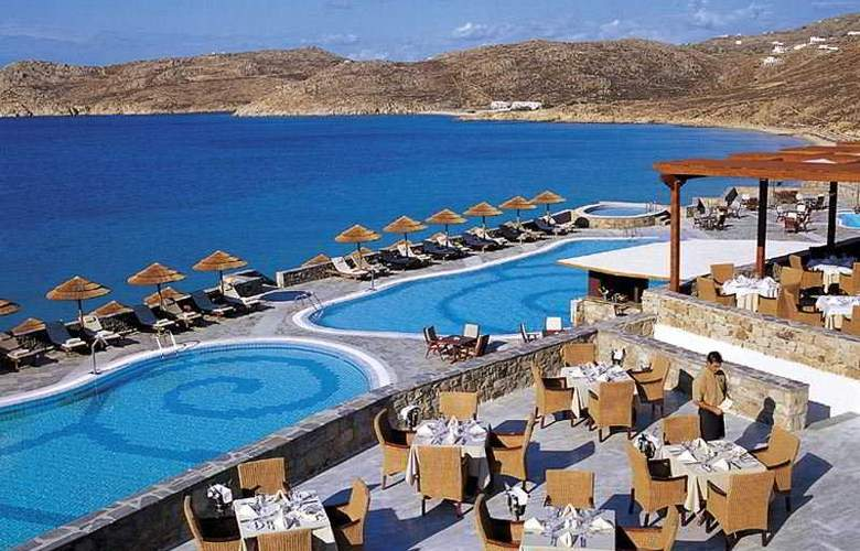 Myconian Imperial Hotel and Thalasso Center - Restaurant - 9